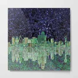 Dallas city skyline Metal Print