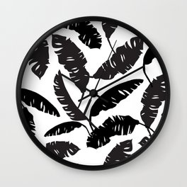 Banana Leaves Pillow Cover Wall Clock