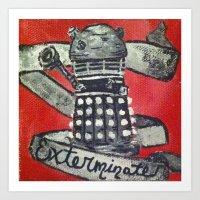 dalek Art Prints featuring Dalek by AntiPosi
