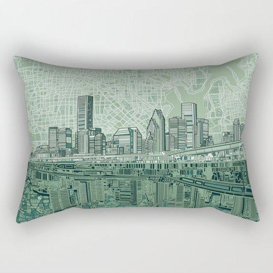 houston city skyline Rectangular Pillow