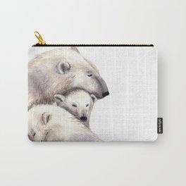 Polar Bears Family Carry-All Pouch