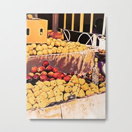 Fruit Stall Metal Print