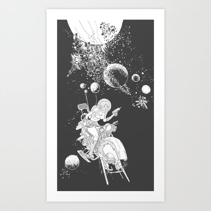 rocket lass Art Print