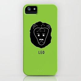 LEO Horoscope Lion Design - Light Green iPhone Case
