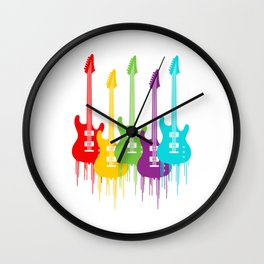 Colorful Guitars | Music is the color for the ears Wall Clock