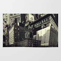 cityscape Area & Throw Rugs featuring Cityscape by Chris Lord