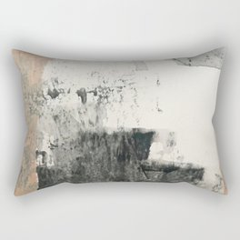 Peace and Quiet [1]: a pretty, minimal abstract piece in gray and peach by Alyssa Hamilton Art Rectangular Pillow