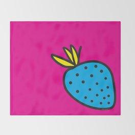Strawberrious - Cyan/MAGENTA Throw Blanket