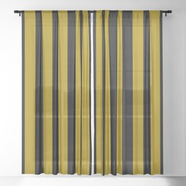 black on gold pattern Sheer Curtain