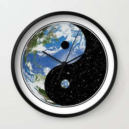 Earth / Space Yin Yang Wall Clock