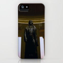 Thomas Jefferson statue in the Jefferson Memorial in Washington DC iPhone Case