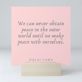131  | Dalai Lama Quotes 190504 Mini Art Print