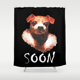 Manfred black Shower Curtain