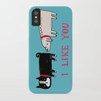 gemma iPhone & iPod Cases featuring I Like You. by gemma correll