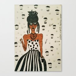 Coffee & a Spliff Canvas Print
