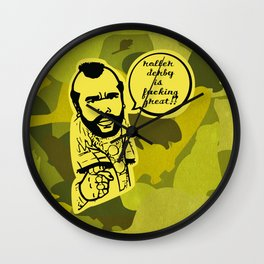 I pity the fool who doesn't love roller derby and beaverflauge Wall Clock