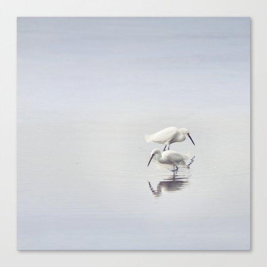 Egret Dance Canvas Print