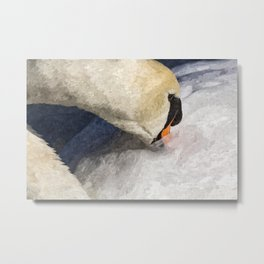 The Proud Swan Art Metal Print