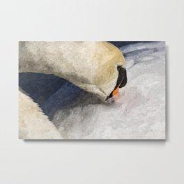 The Proud Swan Art Metal Print