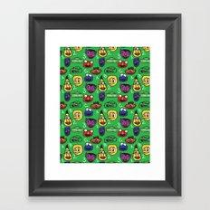 Sesame Street Pattern Framed Art Print