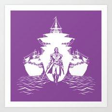 Guns and Ships Art Print