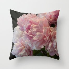 Pink Peony Passion Throw Pillow