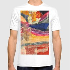 Collage Love - Asian Tie MEDIUM White Mens Fitted Tee