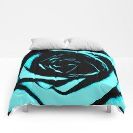Aqua Rose Comforters