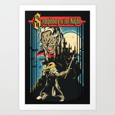 Symphony of the night Art Print