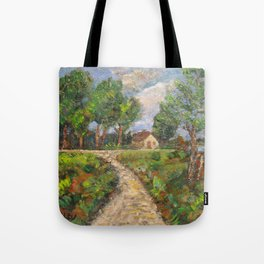 Country Road in Latvia Tote Bag