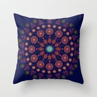 nordic Throw Pillows featuring Nordic Star by RED ROAD STUDIO