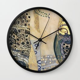 Gustav Klimt - The Hydra - Digital Remastered Edition Wall Clock