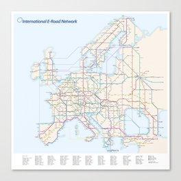 International E-Road Network Canvas Print