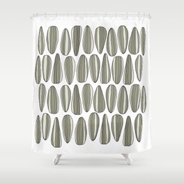 sunflower seeds Shower Curtain