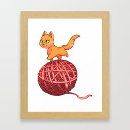 Kitten On Yan Framed Art Print