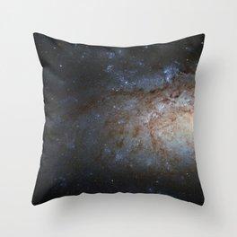 Spiral Galaxy NGC 3621 Throw Pillow