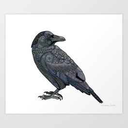 Celtic Raven Art Print