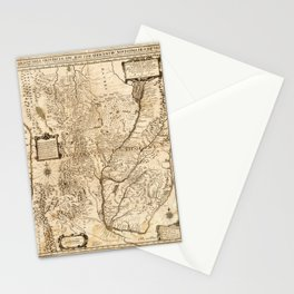 Map of South America (1732) Stationery Cards