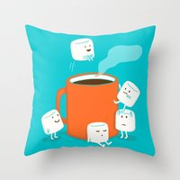 budi Throw Pillows featuring Cannonball by Picomodi