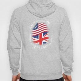 British American Flag Hoody
