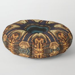 Mandalas Collection - How to color the island of a hummingbird (midas) Floor Pillow
