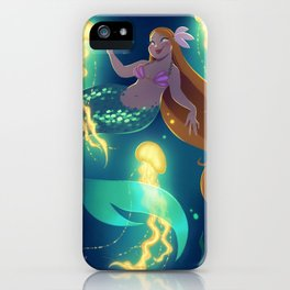 Mermaid with Jellyfish iPhone Case