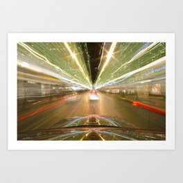 seattle lights Art Print