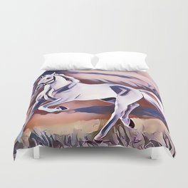 The American Paint Horse Duvet Cover