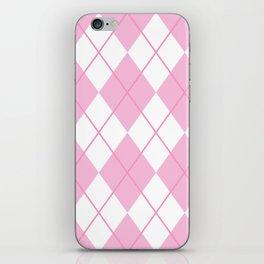 Pink Argyle iPhone Skin