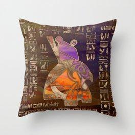 Egyptian Horus Mixed Media Digital Art Throw Pillow