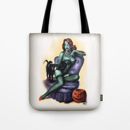 Halloween Zombie Girl Pin Up Tote Bag