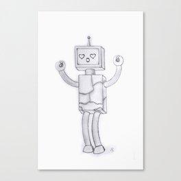 Robo-Love Canvas Print