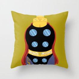 Mighty Mustard Throw Pillow