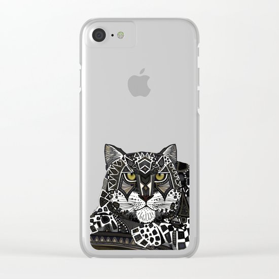snow leopard lead Clear iPhone Case